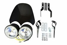Project Streetfighter Motorcycle Motorbike Headlight Kit with Screen & Brackets