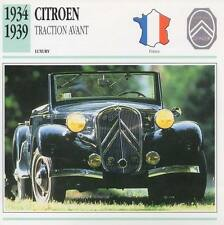 1934-1939 CITROEN TRACTION AVANT Classic Car Photograph / Information Maxi Card