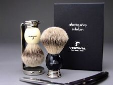 Vestavia's Finest 25mm Silver Tip Badger Shaving Brush w/Matching Stand