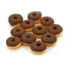 10 Miniatura Para Casa De Muñecas Chocolate Belga Donuts Helados