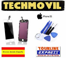 PANTALLA COMPLETA LCD DISPLAY +TACTIL TOUCH DIGITALIZADOR APPLE IPHONE 5S BLANCO