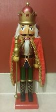 "Soldier Nutcracker 15"" Red Green Gold Red Cape Christmas Holiday Decor"