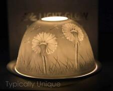 DANDELION TEALIGHT CANDLE HOLDER WHITE PORCELAIN CHRISTMAS GIFT BOXED LIGHT-GLOW
