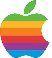 Apple OLD logo sticker 5x6 cm - Retro Computer decal ipad ipod macbook