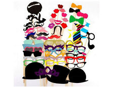 58pcs DIY Party Masks Photo Booth Props Mustache On A Stick Wedding Party Favor