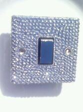 DIAMANTE SILVER CRYSTAL CHROME SINGLE light SWITCH