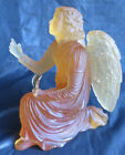DAUM FRANCE NANCY PATE DE VERRE 02560 AMBER ANGEL GABRIEL ART DECO SCULPTURE