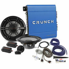 "Crunch Amplified 300W 6.5"" Component Car Speaker System w/Complete Wiring Kit"