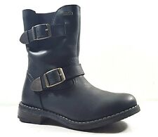 New $120 GABOR Kids Waterproof Boots Girls Black LEATHER SIZE 13 USA/31 EURO