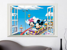 Cartoon Mickey Mouse Love Art Wall Sticker Vinyl Decal 3D Window room Kids Decor