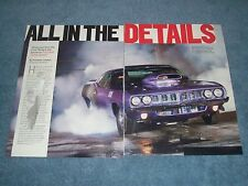 "1971 Plymouth 'Cuda Drag Car Article ""All in the Details"" 572 Hemi"