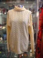 Vintage Yellow Cable Knit Turtle Neck Sweater UK M