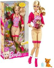 NEW BARBIE I CAN BE ZOO KEEPER PLAY DOLL SAFARI ANIMALS RARE GIFT FUN ACTIVITY