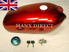NEW RED YAMAHA YB100 YB 100 PETROL TANK LOCKING FUEL CAP - KEYS - FUEL TAP Y-5