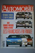 L AUTOMOBILE MAGAZINE N° 526 1990 AUDI 100 GOLF G60 TOYOTA MR RENAULT 25 V6 TUR*