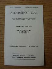 17/07/1955 Aldershot Cycling Club: Event Programme, Open 50 Miles Scratch Handic