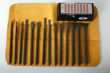 Italian Stone Carving fire-sharp carbon steel 16pc full chisel set with sharpner