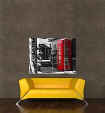 GIANT PRINT POSTER CITYSCAPE PHONE BOX RED BLACK WHITE COOL STREET PDC003