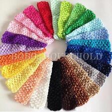 Lot de 50 Bandeau Bébé Serre-tête Cheveux Fille Enfant Crochet Mariage Baptème