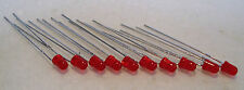 2K450 10 x 3mm 12volts 20mcd Red LED's - Light Emitting Diodes -1st Class Post
