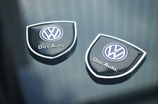 1pair Volkswagen VW Car emblem Side Window Fender Badge Stickers for Golf Jetta