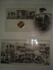 2016 ANZAC $1 UNCIRCULATED COIN+1915-2015 GALLIPOLI CENTENARY WWI CARD+StampSALE