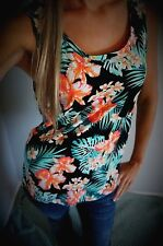 Victoria Secret Pink Tank Top Tropical Floral S Small NWT
