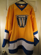 Vintage NHL Hockey WINDSOR CANADIAN Goalie Cut Authentic Style Jersey XL Rare