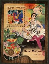 CENTRAL AFRICA 2016 HENRI MATISSE   PAINTING  SOUVENIR SHEET MINT NEVER HINGED