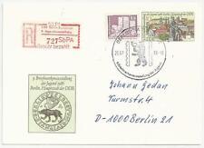 Deutschland DDR 1986: Eingeschriebene Ganzsachenkarte vom 26.07.1986 aus Berlin