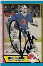 Ron Tugnott Quebec Nordiques1989 O-Pee-Chee Hand Signed Card