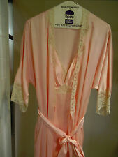LANVIN Pink Peignoir Set- Nightgown & Robe- Glamorous- ONE size fits all