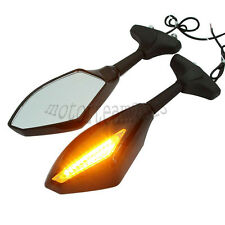 Motorcycle LED Turn Signals Mirrors for Kawasaki ZRX 1200S ZZR1200 ZX-6R 636
