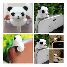 Panda Shape Dustproof Anti Dust ear Plug For iPhone Earphone 3.5mm Xmas gift