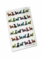 "SCOTTISH TEA TOWEL MULTI COLOUR ""SCOTTIE DOGS"" DISPATCHED DAILY"