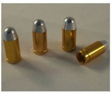 Gold Silver Metal Bullet Shotgun Car Wheel Tyre Valve Dust Caps x4 BMX Dustcaps