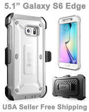Genuine 100% Original SUPCASE Galaxy S6 Edge Full Body Rugged Holster Case Gray