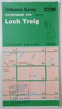 1989 vintage OS Ordnance Survey 1:25000 Pathfinder map 278 Loch Treig NN 27/37