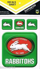 NRL South Sydney Rabbitohs UV Outdoor Car Tattoo Sticker Sheet / Decal / iTag