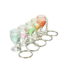 1X Fake Wineglass Key Chain Keyring Creative Gift Decoration Lanyard Keychain