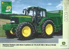 Farm Tractor Brochure - John Deere - 6020 series High HP - FRENCH c2001 (F4835)
