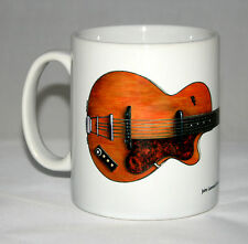 Guitar Mug. John Lennon's Hofner Club 40 illustration.