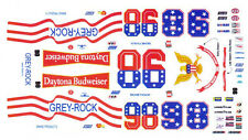 #98 Richie Panch Daytona Budweiser Nascar Decals 1/32 Scale Slot Car Decals