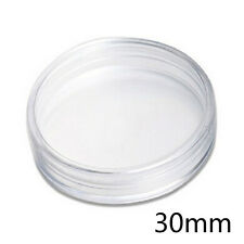 10x Clear Round Plastic Cases Coin Storage Capsules Holder Small 30mm NIUK