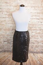 Modcloth Mics, Camera, Action Skirt NWT 8 Black Sequined Pencil