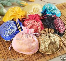 Wholesale 20pcs Chinese Handmade Silk Jewelry Pouches Coin Purse Gift Bags New