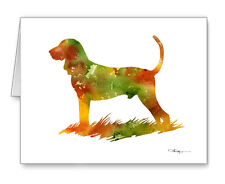 Black And Tan Coonhound Note Cards With Envelopes