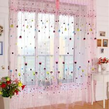 Balloon Tulle Voile Window Curtain Drape Sheer Scarf Valance Pink 100*270cm