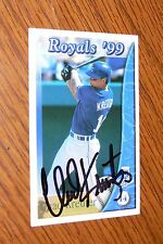 CHAD KREUTER SIGNED AUTOGRAPHED 1999 KANSAS CITY ROYALS POLICE CARD