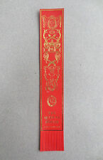 BOOKMARK Leather GREENWICH London The Queen's House RED Gold